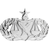 Air Force Senior Paralegal Badge, Pin-On, Mid-Size, Mirror Finish