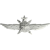 Air Force Senior Cyberspace Operator Badge, Mirror Finish, Midsize