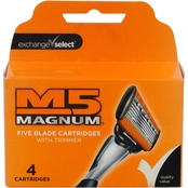 Exchange Select M5 Magnum Blade Cartridges with Trimmer 4 Pk.