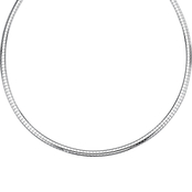 PalmBeach Sterling Silver 18 in. Omega Link Necklace
