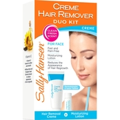 Sally Hansen Creme Hair Remover Kit For Face, Upper Lip and Chin