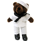 Bear Forces of America 11 in. Plush Bear in Navy White Jumper