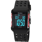Armitron Men's Sport Red Accent Digital Chronograph Resin Strap Watch 40/8177RED