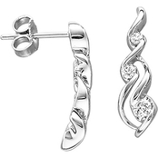 Sirena 14K White Gold 1/5 CTW 3 Stone Diamond Earrings