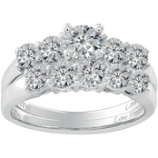 Love Honor Cherish 14K White Gold 2 CTW Diamond Bridal Set
