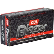 CCI Blazer 9mm 115 Gr. FMJ, 50 Rounds