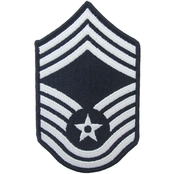 Air Force Chief Master Sergeant (CMSgt) Blue Chevron Small Rank