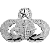 Air Force Master Force Support Badge, Pin-On, Mid-Size