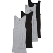 Hanes Tagless Ribbed A-Shirts 4 Pk.