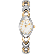Bulova Women's White Dial Bracelet Watch 98V02