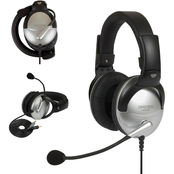 Koss Headset with Boom Microphone for Computer Gaming/Telephony