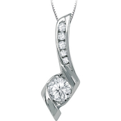 Sirena 14K White Gold 1/3 CTW 6 Diamond Journey Pendant