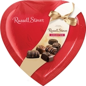Russell Stover 14 Oz. Assorted Chocolates Red Foil Heart