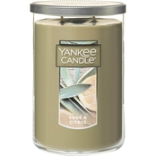 Yankee Candle Sage and Citrus Large 2 Wick Tumbler Candle