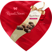 Russell Stover 20 Oz. Assorted Chocolates Red Foil Heart