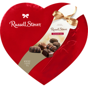 Russell Stover 26 Oz. Assorted Chocolates in Red Foil  Heart