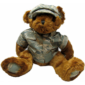 Bear Forces of America 16 in. Plush Military Bear - Air Force Airman Battle Uniform