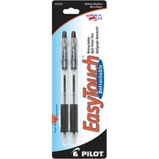 Pilot Pen Easy Touch Black Medium, 2 pk.