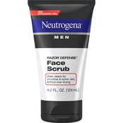 Neutrogena Men Razor Defense Daily Exfoliating & Conditioning Face Scrub 4.2 Oz.