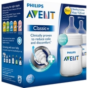 Avent Classic+ 4 Oz. Baby Bottle 2 Pk.