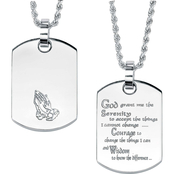 PalmBeach Serenity Prayer Dog Tag Pendant