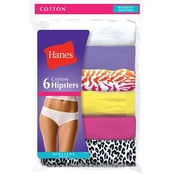 Hanes Cotton Assorted Hipsters, 6 Pk.