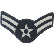 Air Force Rank Airman First Class (A1C) E-3 Blue Chevron Large