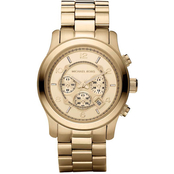 Michael Kors Women's Oversized Runway Goldtone Chronograph 3883250