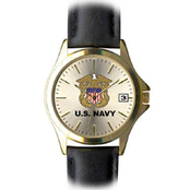 Frontier Women's Navy Insignia Quartz Date Watch