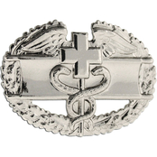 Army Badge Regular Mirror Finish, Combat Medical 1st Award