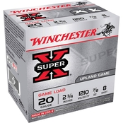 Winchester Super-X 20 Ga. 2.75 in. #8.5 2.5 Dram 0.875 oz. Shotshell, 25 Rounds