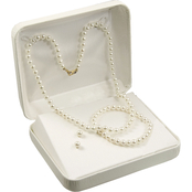 14K Yellow Gold Childs First 4-4.5mm Cultured Freshwater Pearl Gift Set