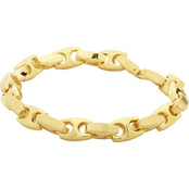 Yellow Ion Plated Stainless Steel Mariner Link Bracelet
