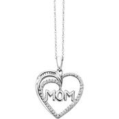 Sterling Silver 1/5 CTW Diamond Mom Heart Pendant