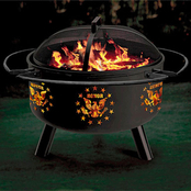 Stone River Gear Military Pride Honor Solid Steel Firepit and Grill Combo