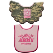 Trooper Clothing Infant Girls ACU Camouflage Bibs 2 pk.