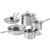 Calphalon Classic Stainless Steel 10 Pc. Cookware Set
