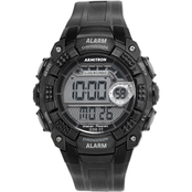 Armitron Men's Sport Digital Chronograph Black Resin Strap Watch 40/8209BLK