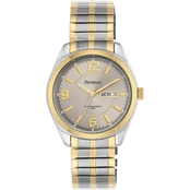Armitron Men's Day/Date Function Two Tone Expansion Band Watch 39.5mm 20/4591GYTT