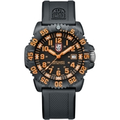 Luminox Men's EVO Navy SEAL Colormark Dive 44mm Watch Orange Numerals 3059LUM