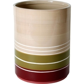 Saturday Knight Madison Stripe Red Wastebasket