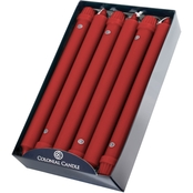 Colonial Candle Red 10 in. Classic Tapers 12 pk.