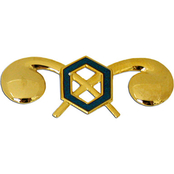 Army Officer Chemical Branch Collar Device Set