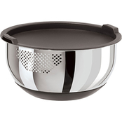 Oggi Strainer Bowl with Nonslip Base and Lid