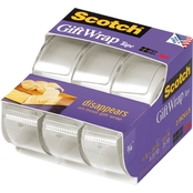 Scotch Gift Wrap Transparent Tape 3 Pk.