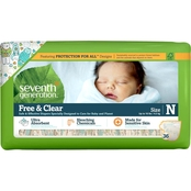 Seventh Generation Newborn Free & Clear Jumbo Diapers, 36 ct.