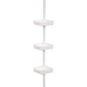 Zenith Products White Bathtub and Shower Pole Caddy