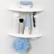 Zenith Products White Two Tier Corner Shower Caddy