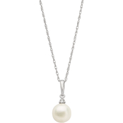 Blue Lagoon by Mikimoto 14K Gold 7mm Akoya Cultured Pearl Diamond Accent Pendant