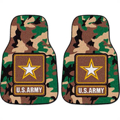 Fan Mats Army 2 Pc. Printed Car Mats Camouflage